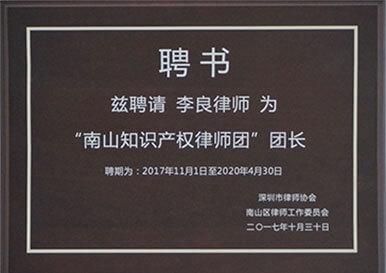 南山知识产权律师团团长